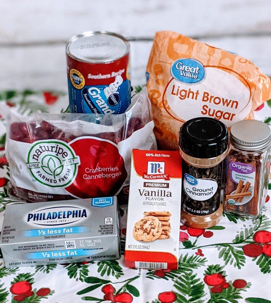 Ingredients for Cranberries & Cream Biscuits.