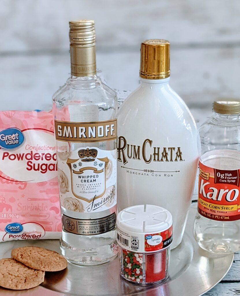 Ingredients for Sugar Cookie Martini.