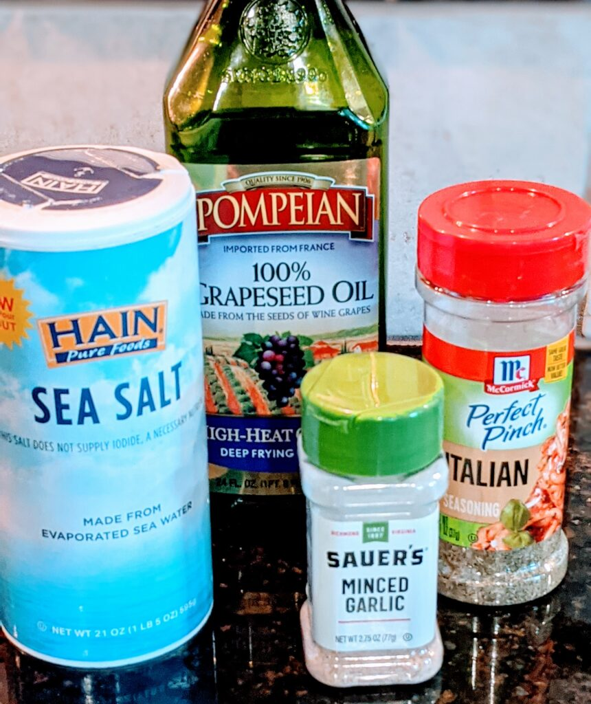 Spices to use while sautéing.