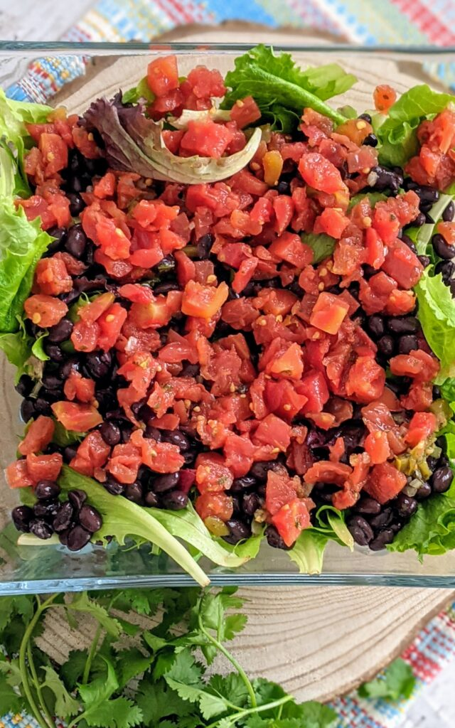Salad with added progression of Rotel.