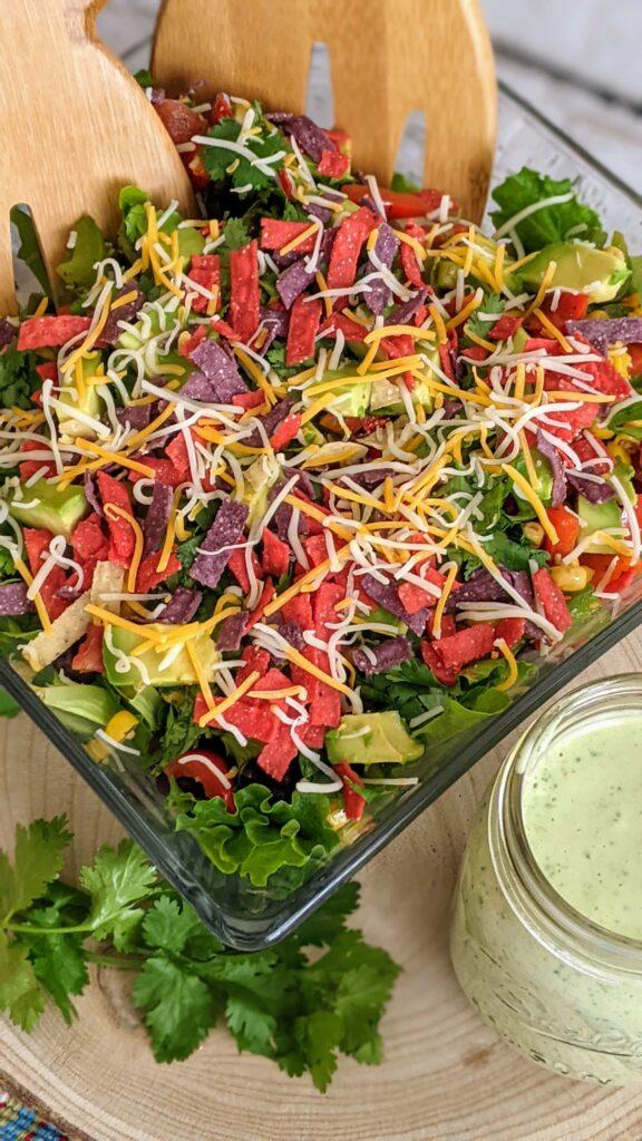 Completed Loaded Southwest Salad.