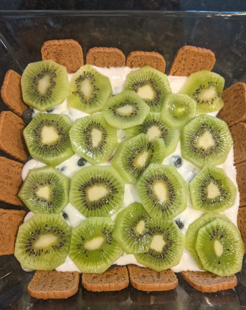 Layer of kiwi.
