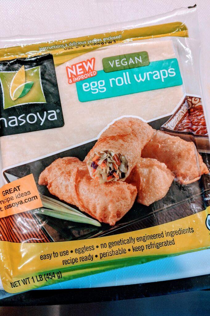 Nasoya vegan egg roll wraps.
