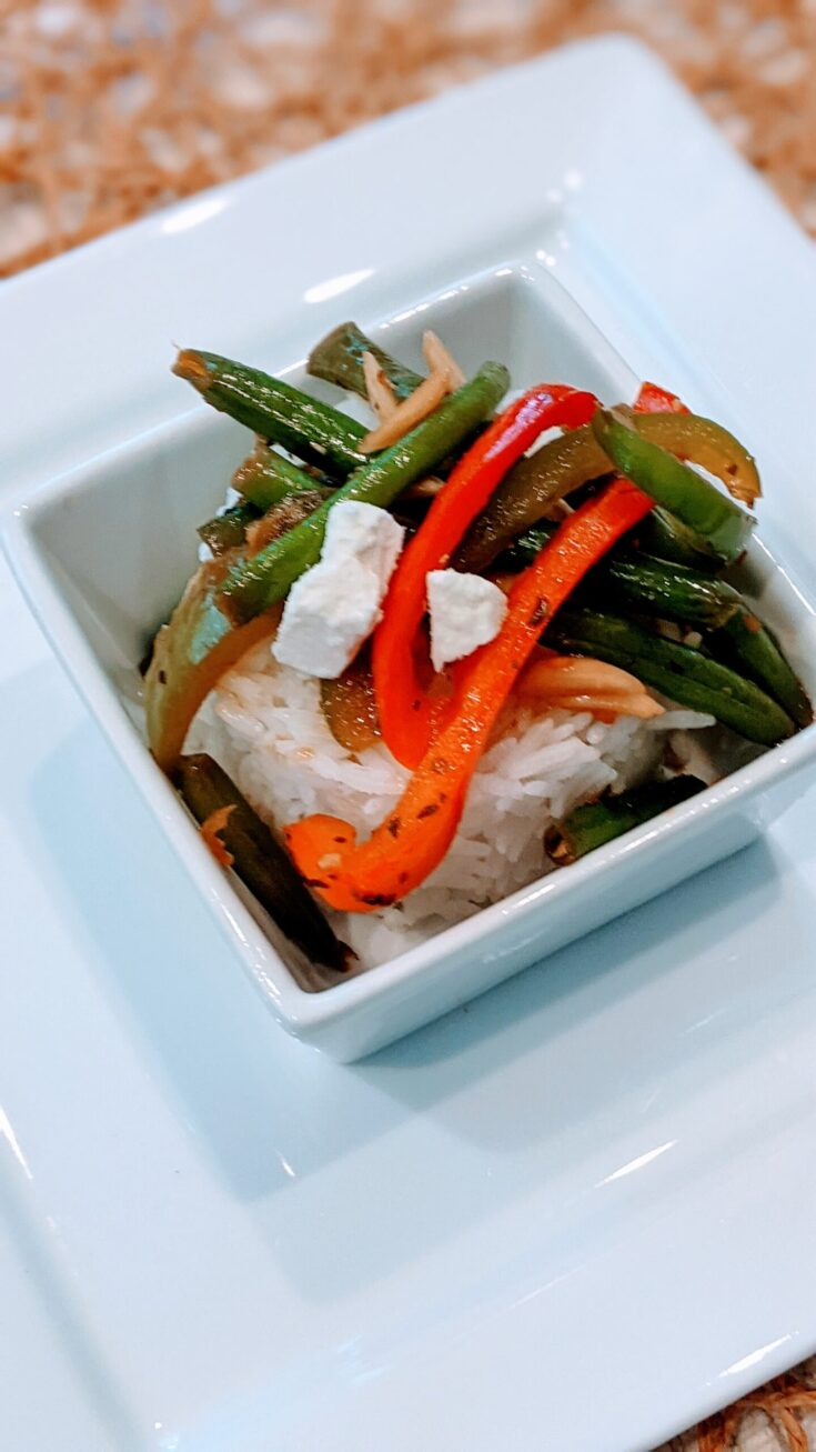 SIMPLE SAUTE GREEN BEANS & PEPPERS