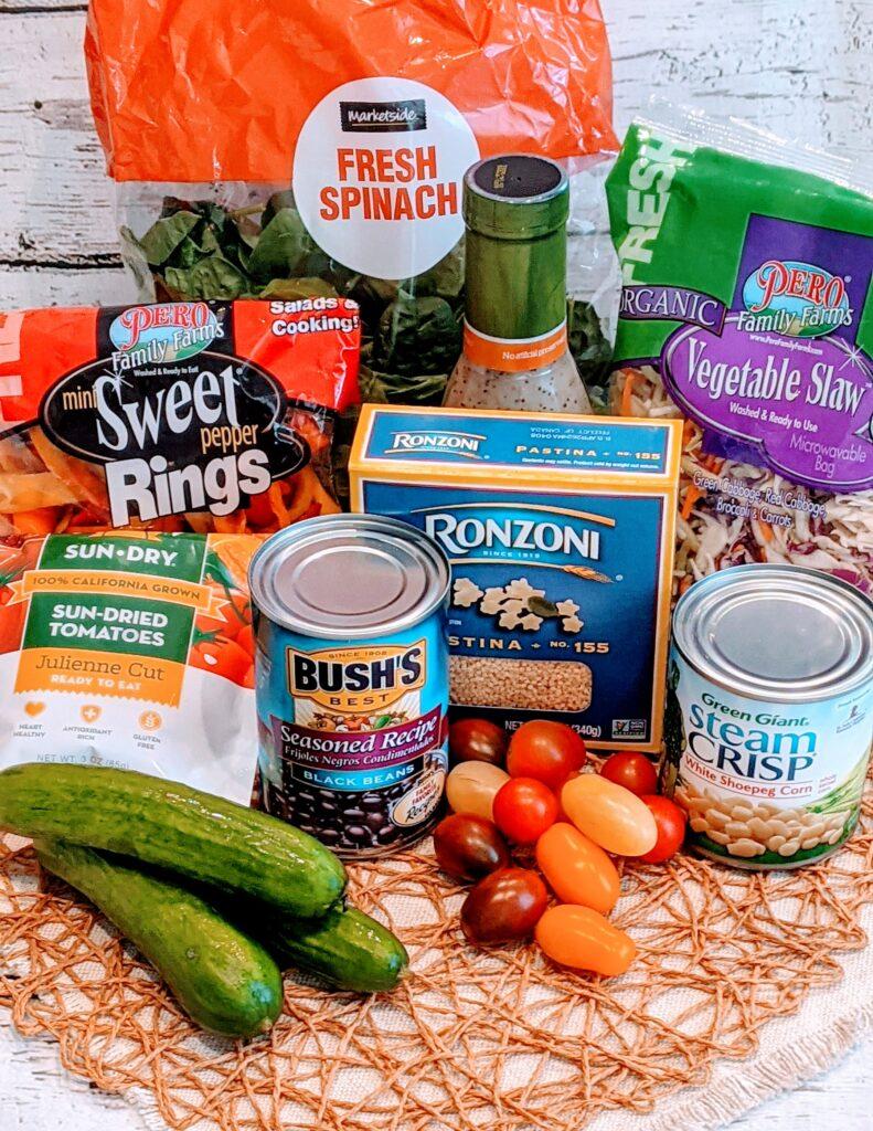 Ingredients for Simple Summer Salad.