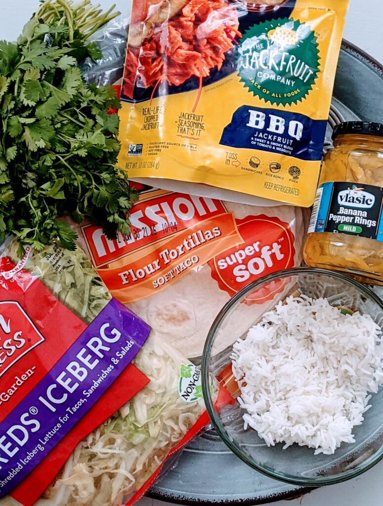 Ingredients for Jackfruit Street Tostados.